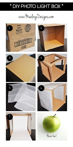 Homemade box for product photography