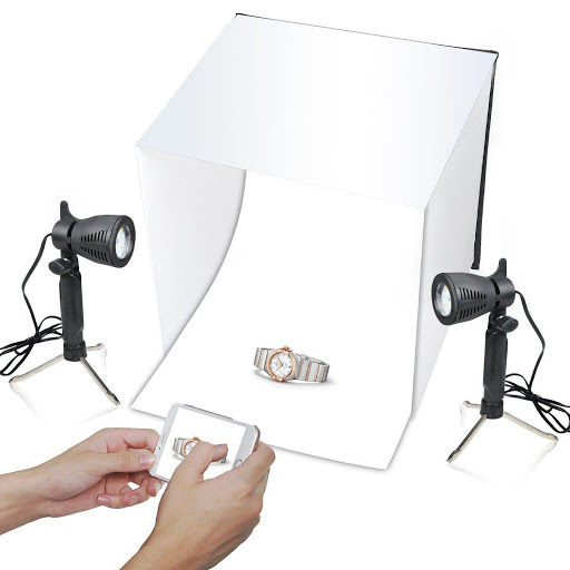 Product photography with box