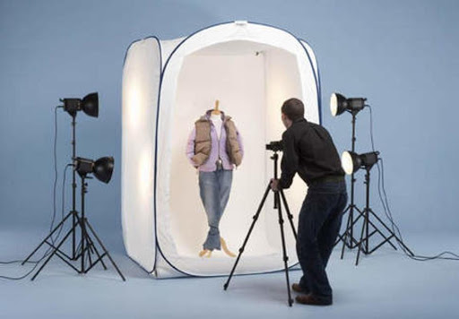 Product photography of clothes