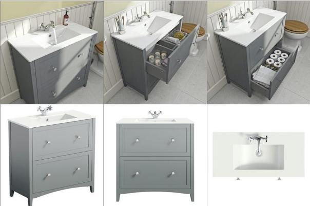 Продуктови снимки на мебели за баня