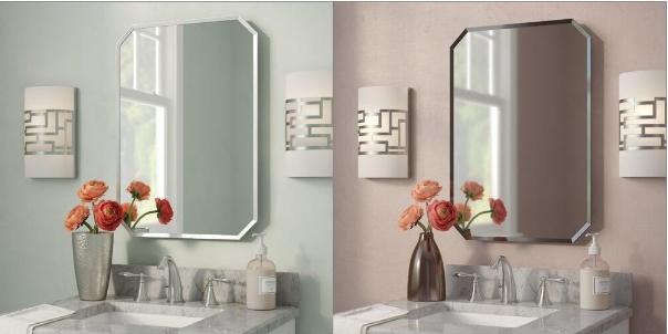 Product photos of bathroom furniture
